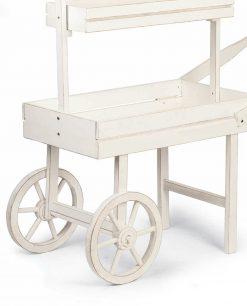 allestimenti matrimonio carretto in legno bianco