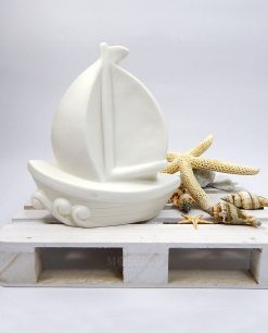 barchetta in ceramica a led ad emozioni
