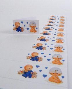 bigliettini battesimo gemelli maschi stampati o da stampare