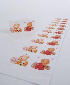 bigliettini gemelle con cagnolini da stampare o stampati