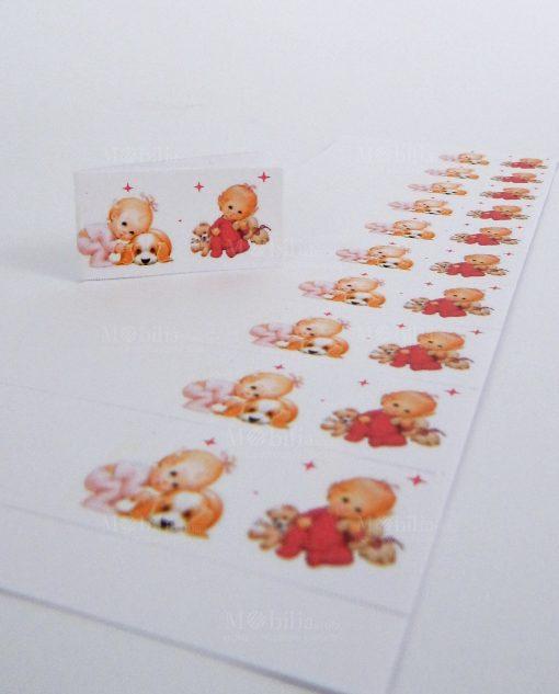 bigliettini nascita gemelle per bomboniere stampati