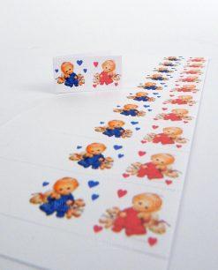 bigliettini nascita gemelli da stampare