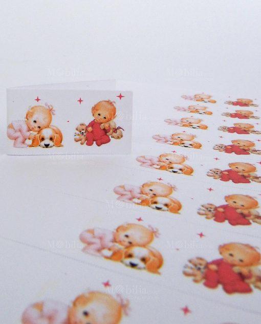 bigliettini primo compleanno gemelle per confetti