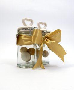 bomboniera barattolini con cuore in ceramica brandani