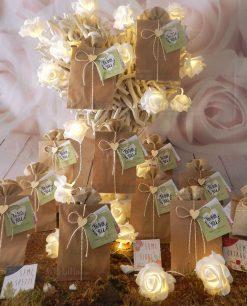 bomboniera bustina cartoncino con semi misti da piantare legambiente