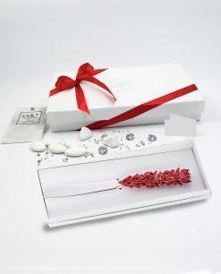 bomboniera coltello torta corallo rosso tema mare emò