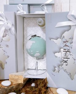 bomboniera diffusore mappamondo porcellana verde con fragranza linea bisquit