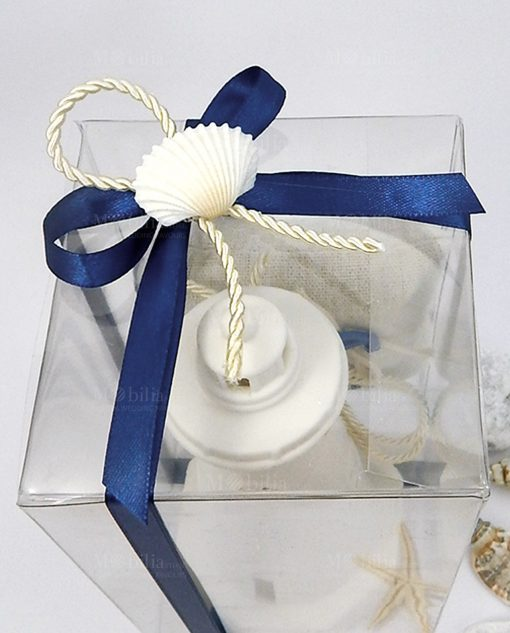 bomboniera lampada faro ceramica