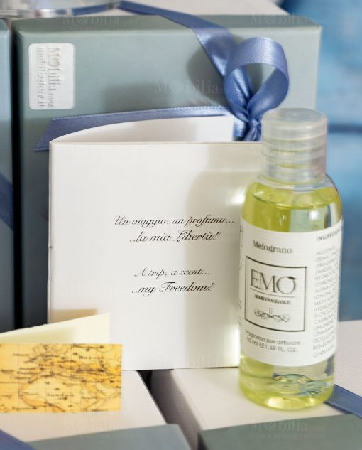 bomboniera mappamondo libriccino e fragranza per diffusore