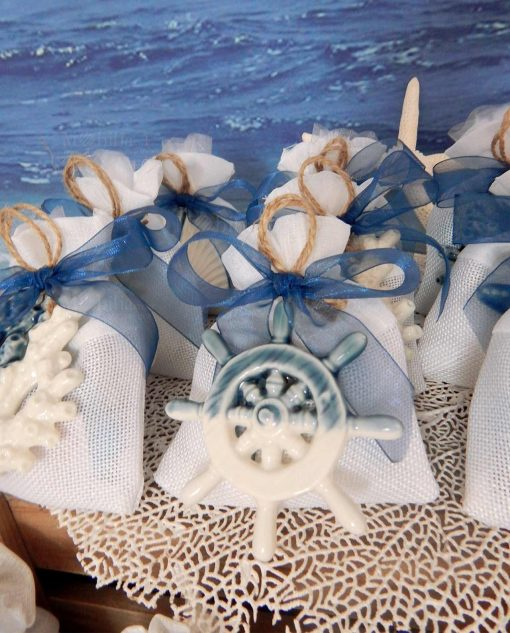 bomboniera pendente timone ceramica ad emozioni
