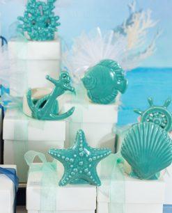 bomboniera portacandela stella marina conchiglia ancora pesce timone corallo tiffany lines summer ad emozioni