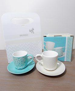 Brandani set 4 piatti moderni granaglie bianchi for Tazzine caffe moderne
