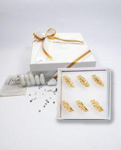 bomboniere legatovaglioli anello corallo dorato emò