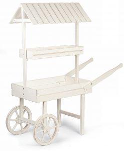carretto bianco con tetto per allestimenti