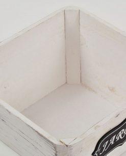 contenitore in legno bianco