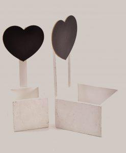 contenitori in legno cuore nero