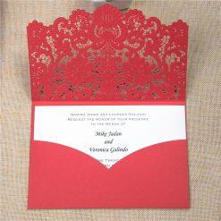invito nozze rosso