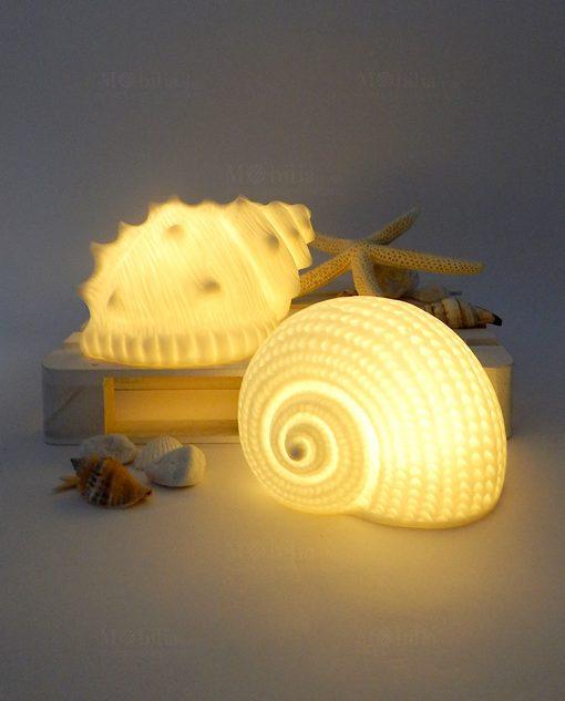 lampada forma conchiglia nautilus