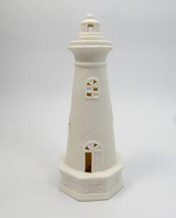 lampada forma faro ceramica