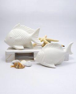 lampada led pesce ceramica
