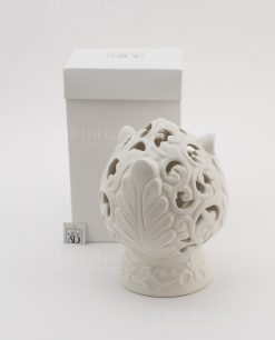 lampada led porcellana bianca pomo linea pomona ad emozioni con scatola