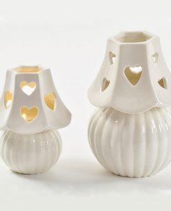 lampade in porcellana grande e piccola con led
