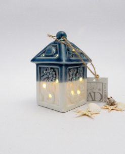 lanterna con luce led blu