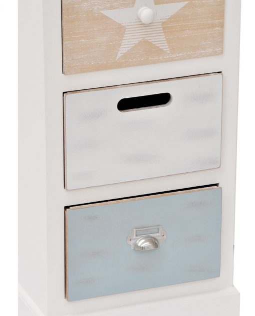 mobiletto in legno con cassetti
