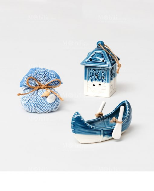 oggettistica blu per bomboniere stile marino