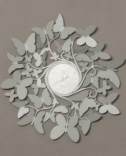 orologio da parete grigio vortice butterfly arti e mestieri