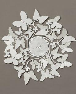 orologio da parete vortice butterfly bianco arti e mestieri