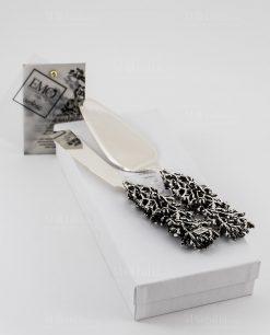 pala torta e coltello con manico corallo argento linea coral bay emò