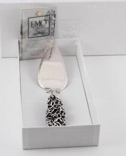 pala torta manico corallo argento con scatola linea coral bay emò