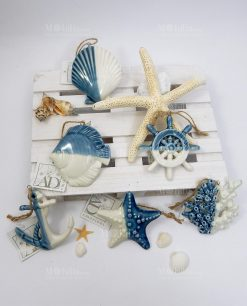 pendenti mare bianco blu ceramica