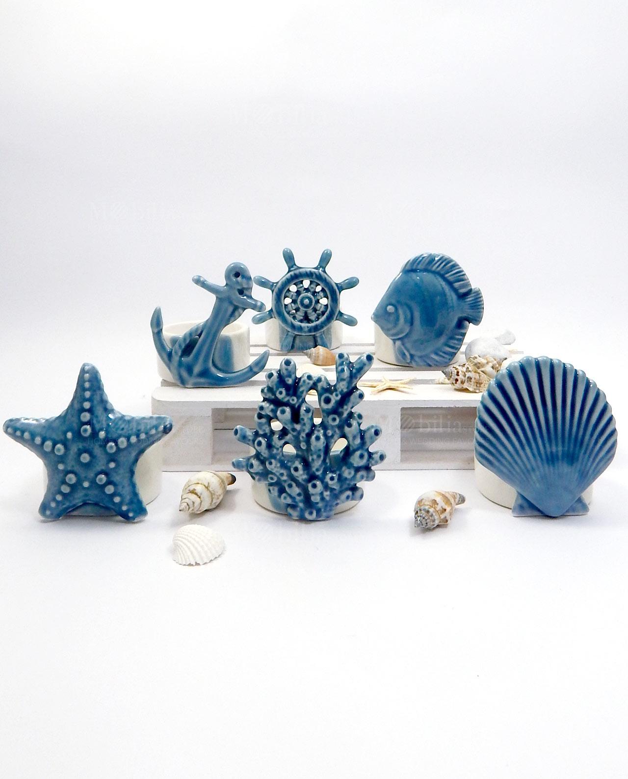 Portacandele blu linea summer ad emozioni mobilia store home favours - B b porta di mare ...