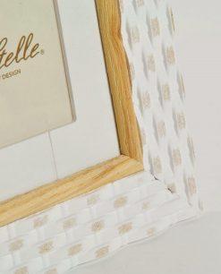 portafoto quadrato cornice in legno intrecciata