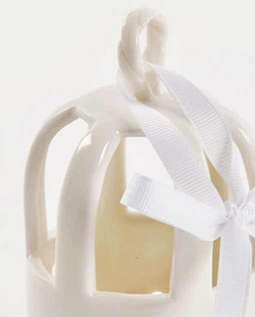 profumatore gabbietta porcellana bianca
