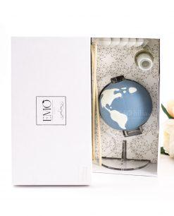 profumatore mappamondo con scatola e fragranza emò italia