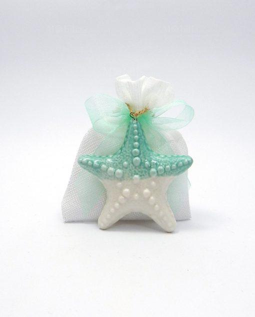 sacchetti portaconfetti con stella marina Ad emozioni