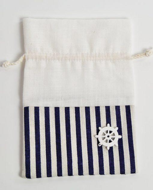 sacchetto di cotone portaconfetti con timone