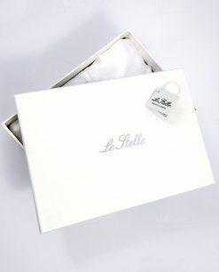 scatola cartoncino bianco le stelle imbottita