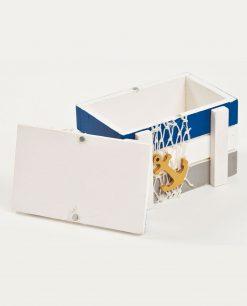 scatola in legno tema marinara