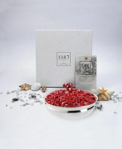 scatolina traforata corallo rosso piccola emò