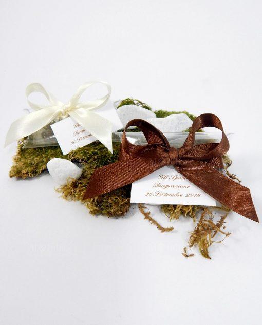 segnaposto con semi per cerimonie tema green