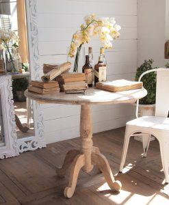 tavolo rotondo in legno massello di mango