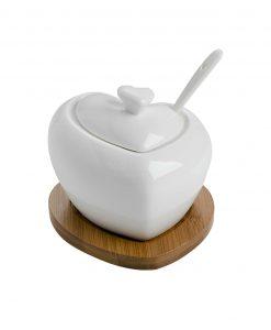 zuccheriera in ceramica a forma di cuore brandani