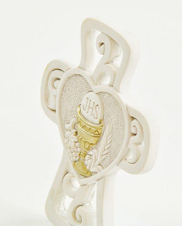 croce in gres da appoggio con calice oro