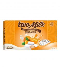 Confetti two milk bianco arancia Maxtris