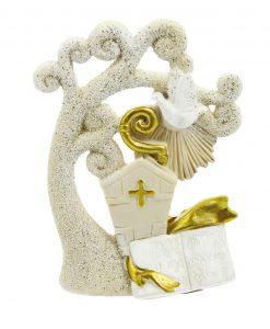 albero da appoggio con colomba cappello papale e bastone