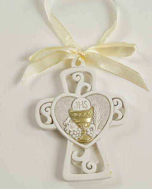appendino croce con cuore e calice oro